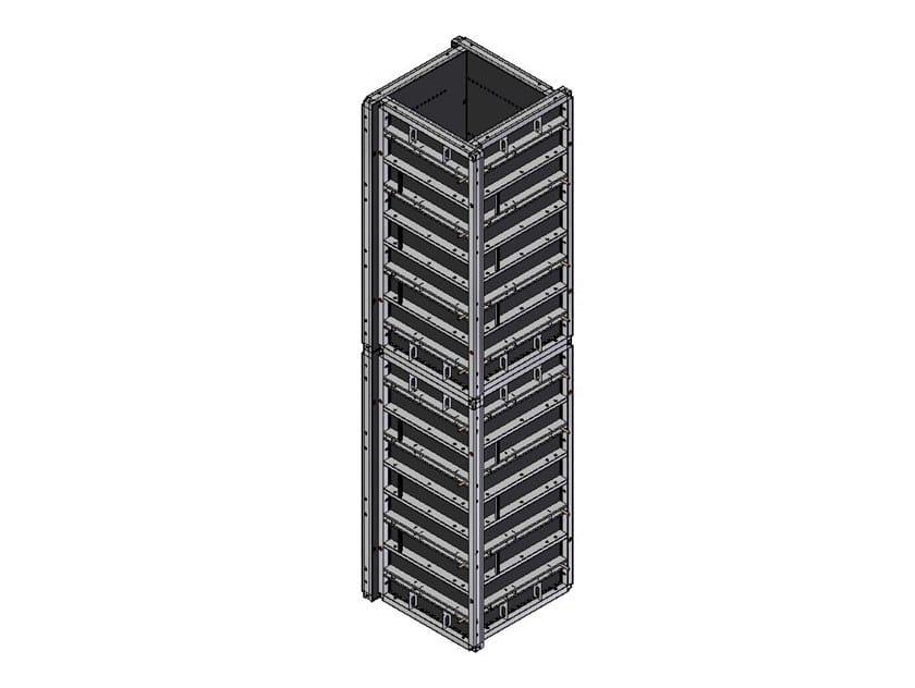 Cassero in acciaio per pilastri POKER ROBUSTO by Faresin Formwork