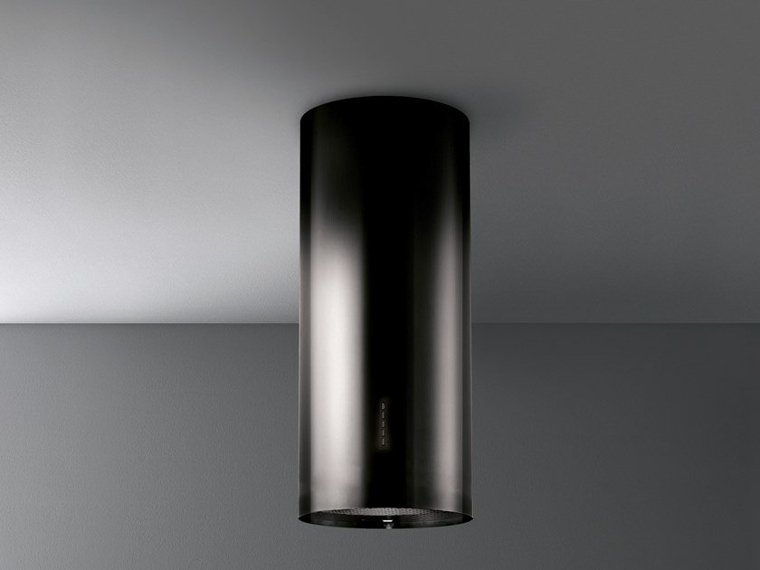 Wall-mounted island hood with integrated lighting POLAR BLACK by Falmec