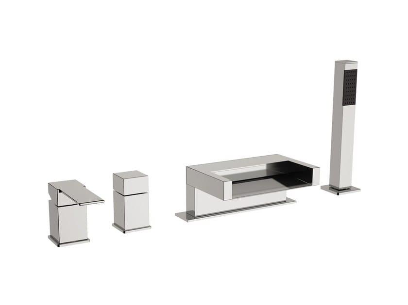 Chrome-plated bathtub set with diverter and hand shower POLAR   Bathtub set by Rubinetterie Mariani
