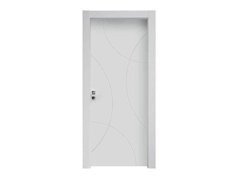 Hinged lacquered wooden door POLAR by NUSCO