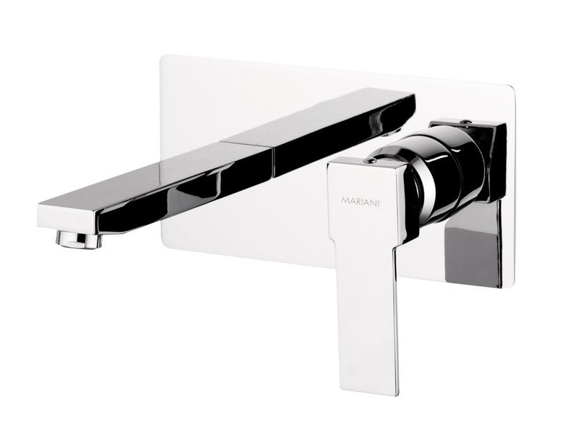 Wall-mounted single handle washbasin mixer POLAR | Wall-mounted washbasin mixer by Rubinetterie Mariani