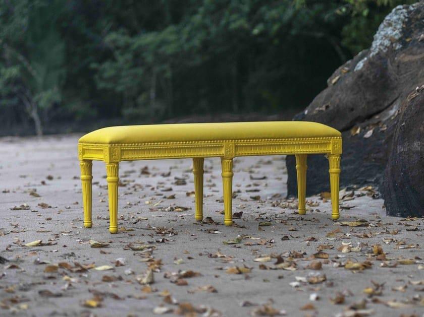 Upholstered wooden bench POLART | Bench by POLaRT