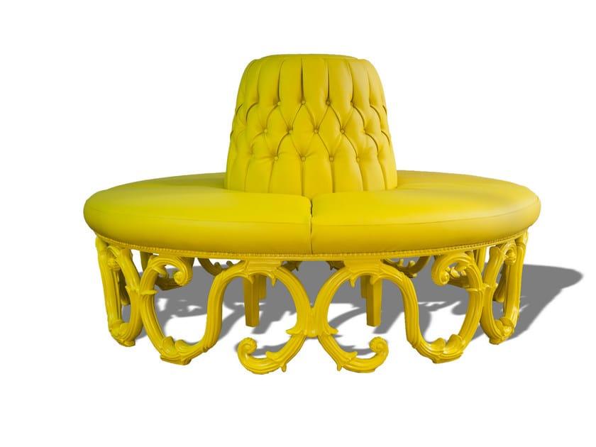 Curved fabric sofa POLART | Curved sofa by POLaRT