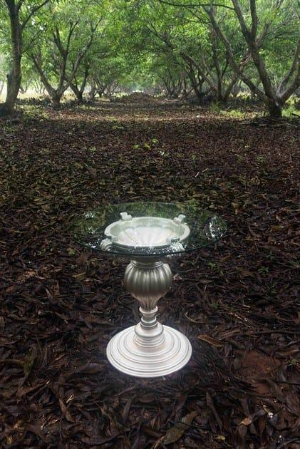 Round glass table POLART   Round table by POLaRT