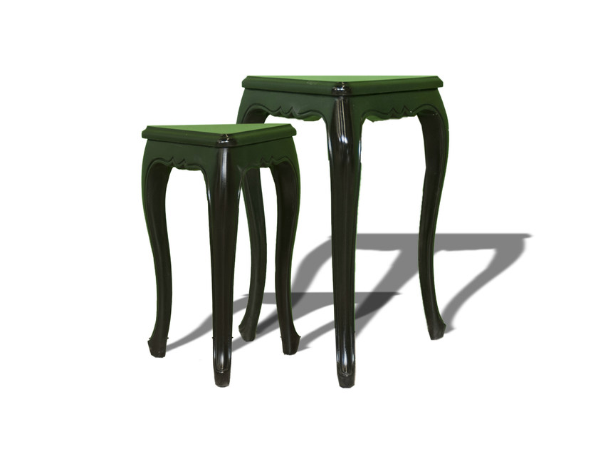 Lacquered square side table POLART | Square coffee table by POLaRT