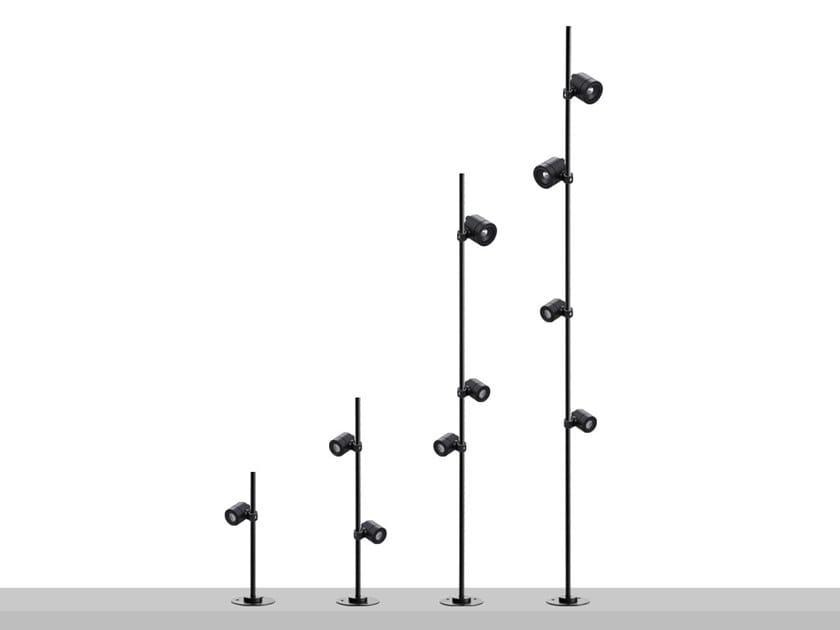 LED metal Outdoor floodlight POLE by Flexalighting