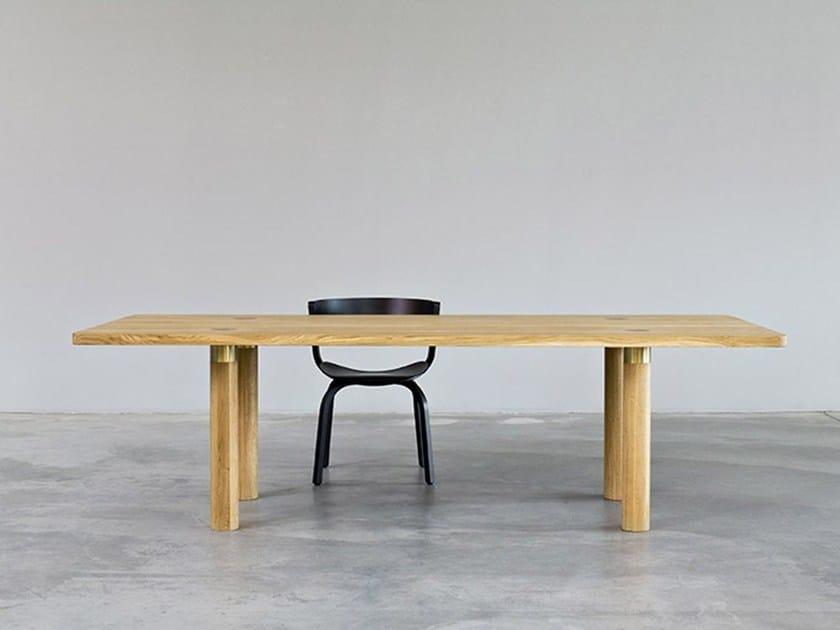 Tavolo rettangolare in legno POLE TABLE | Tavolo by Morgen
