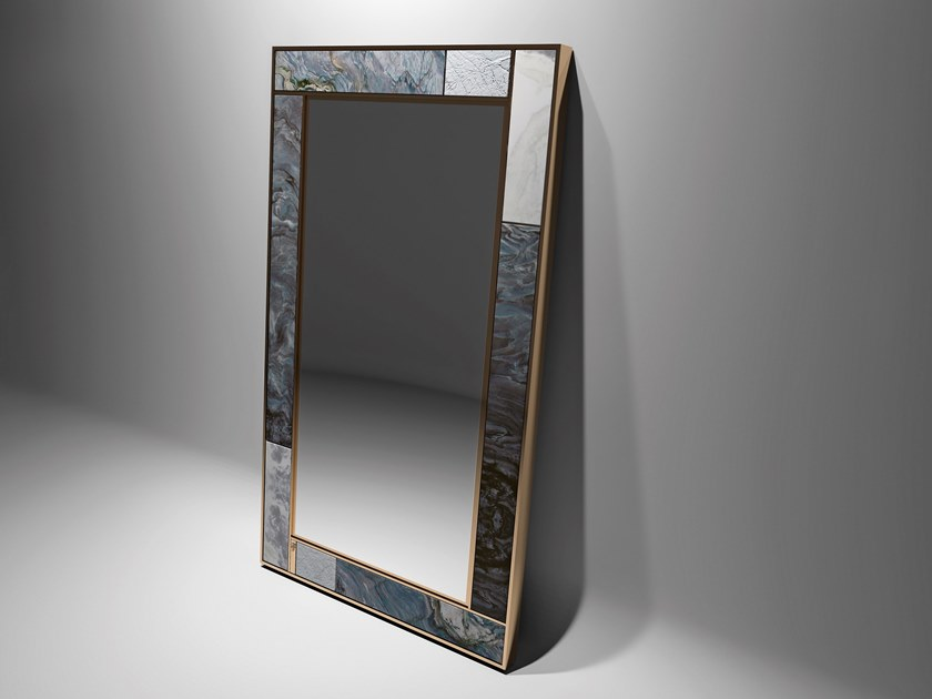 Freestanding rectangular marble mirror POLIDORO by Visionnaire