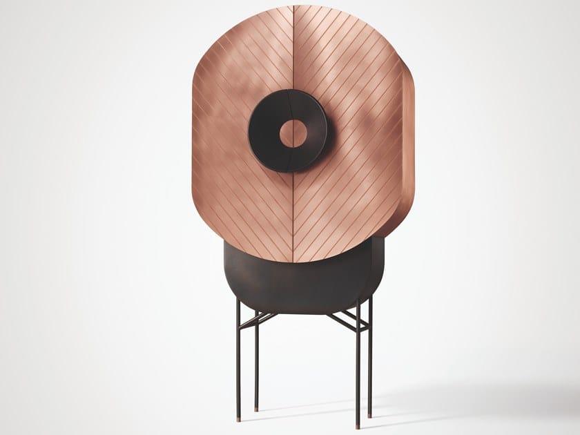 Metal highboard with doors POLIFEMO by DE CASTELLI
