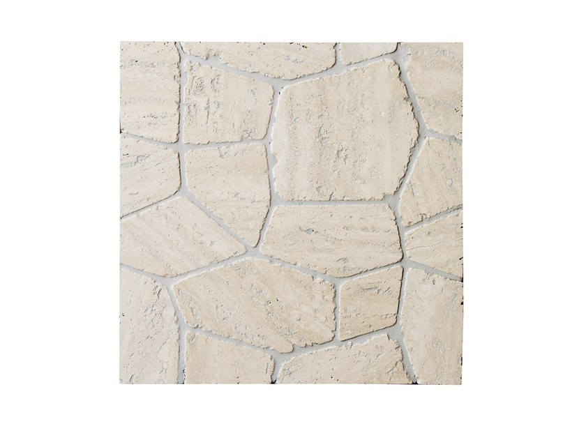 Travertine mosaic POLIGONI | Travertine mosaic by FRIUL MOSAIC