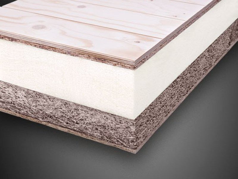 Synthetic material thermal insulation panel POLIISO® WR LC | Composite panel for roof by Ediltec