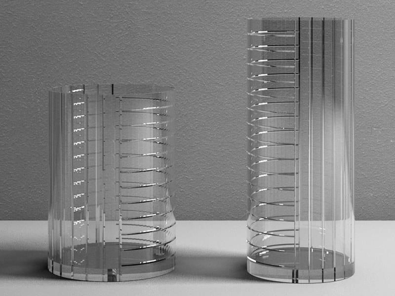 Glass vase POLINE by Adriani e Rossi edizioni