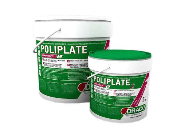 Additive and resin for waterproofing POLIPLATE 2 by DRACO ITALIANA