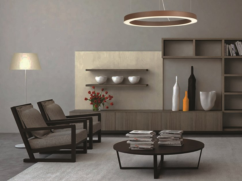 LED direct-indirect light pendant lamp POLIS | Direct-indirect light pendant lamp by Gibas