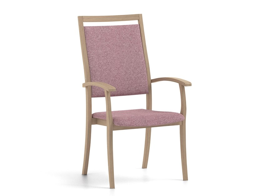 Stackable fabric chair with armrests POLKA | HEALTH & CARE | Chair with armrests by PIAVAL