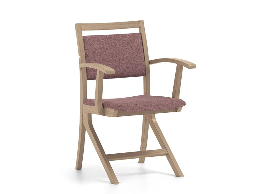 Fabric chair with armrests POLKA | HEALTH & CARE | Chair with armrests by PIAVAL