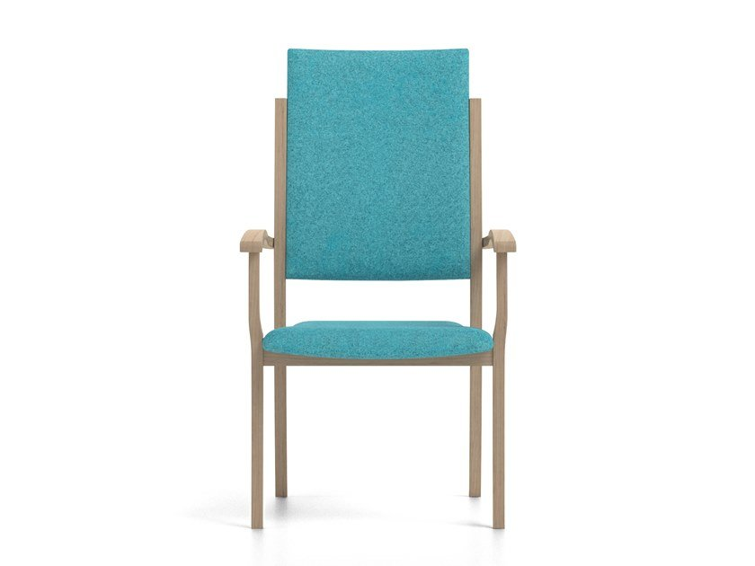 Stackable high-back fabric chair POLKA | HEALTH & CARE | High-back chair by PIAVAL