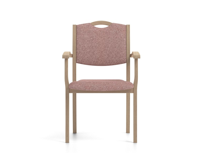 Contemporary style upholstered stackable fabric chair with armrests POLKA | HEALTH & CARE | Chair with armrests by PIAVAL