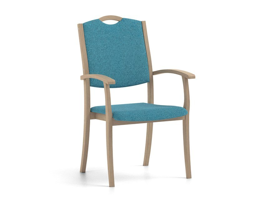 Stackable fabric chair with armrests POLKA | HEALTH & CARE | Fabric chair by PIAVAL