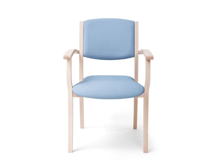 Stackable fabric chair with armrests POLKA | HEALTH & CARE | Stackable chair by PIAVAL