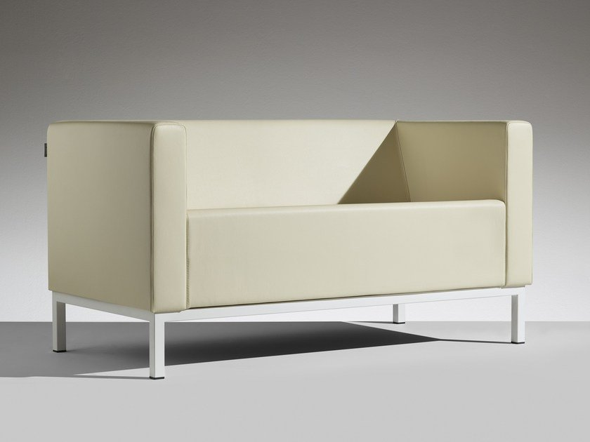 3 seater leather sofa POLO | 3 seater sofa by LAMM