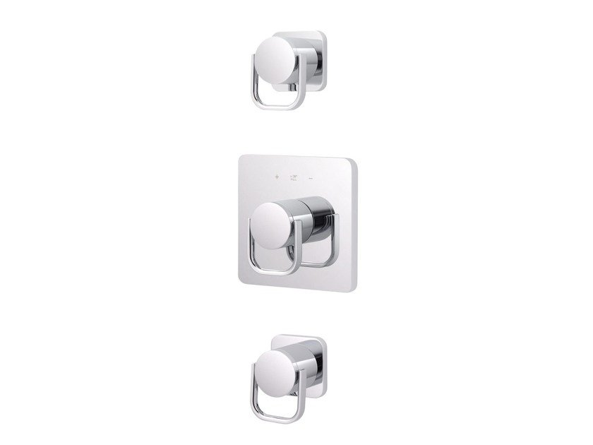 3 hole thermostatic shower mixer POLO CLUB | 3 hole thermostatic shower mixer by rvb