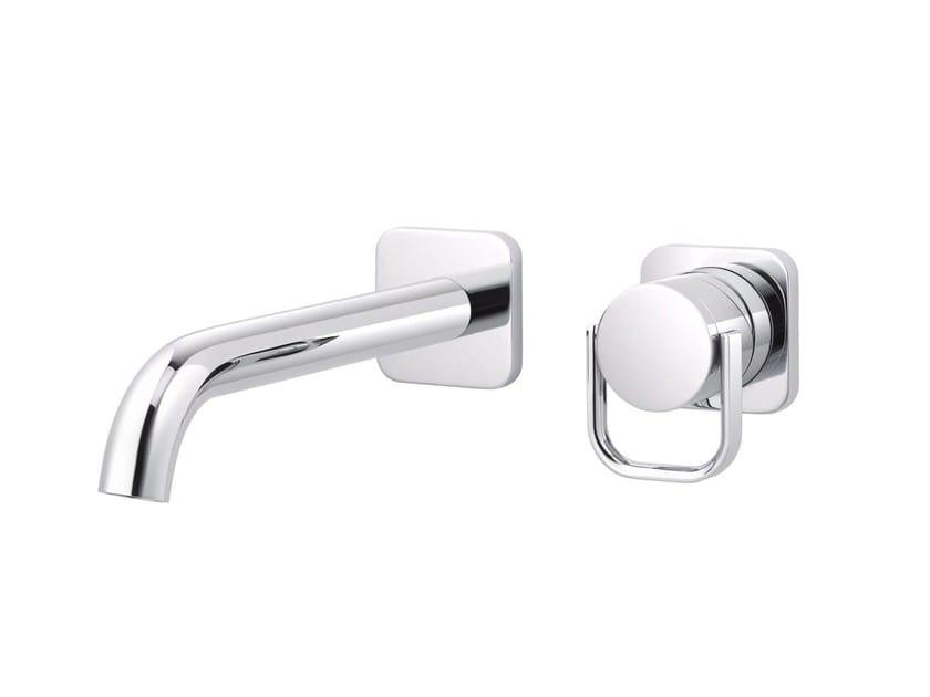 2 hole wall-mounted single handle washbasin mixer POLO CLUB | Wall-mounted washbasin mixer by rvb
