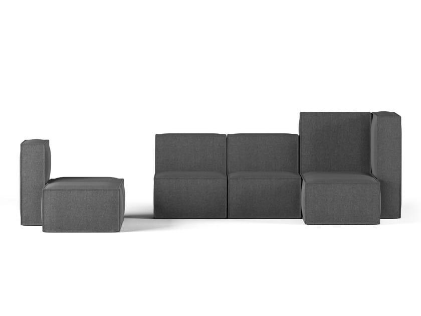 Modular fabric sofa POLONYNA by FAINA Collection