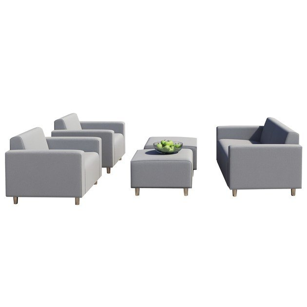 Contemporary style upholstered fabric garden armchair with armrests Cervia by Mediterraneo by GPB