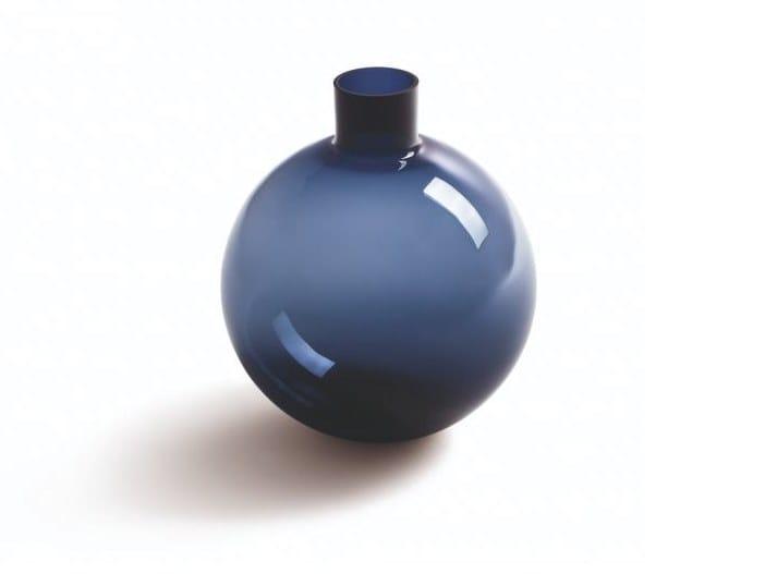Glass vase POLTRONA FRAU - BLUE PALLO Big by Archiproducts.com