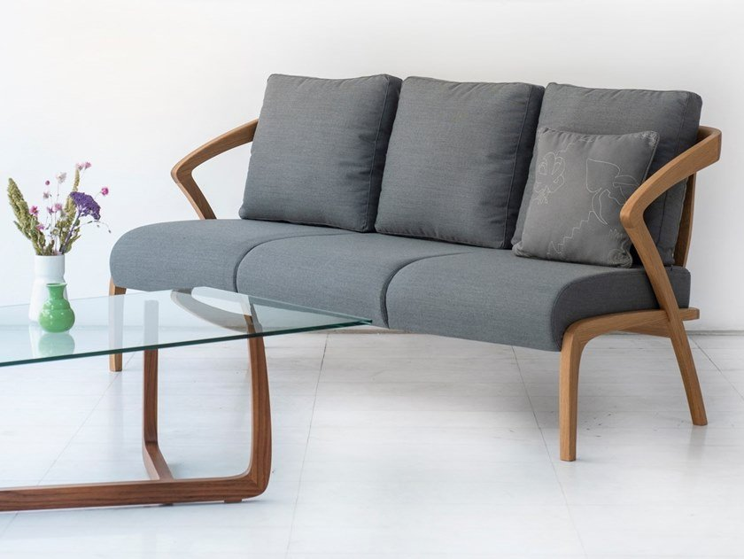 3 seater fabric sofa POLY | Fabric sofa by Hemonides