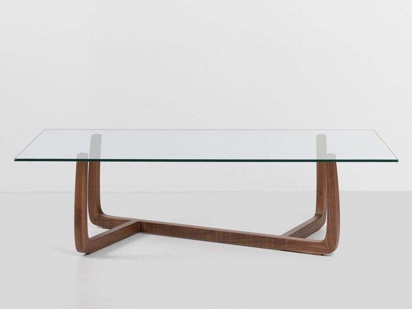 Rectangular glass coffee table POLY   Glass coffee table by Hemonides