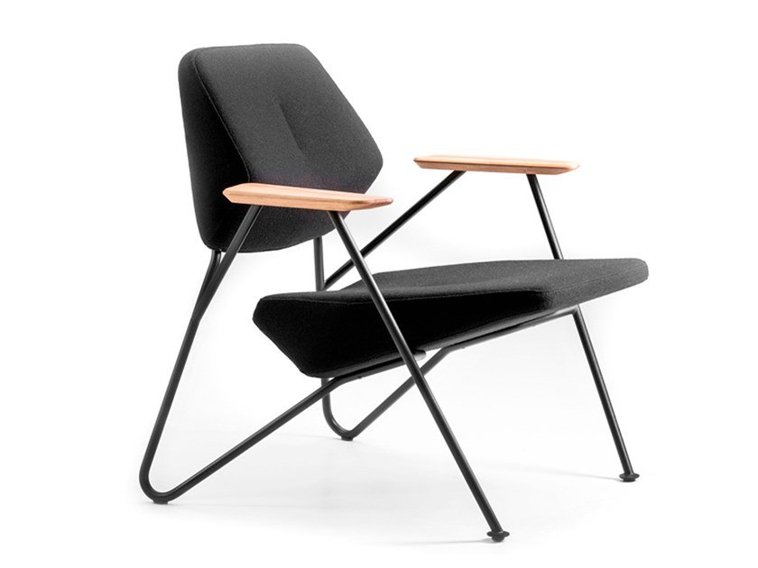 Easy chair with armrests POLYGON | Easy chair by prostoria