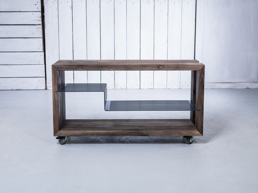 Solid wood food trolley HI-FI RACK by HOOKL und STOOL