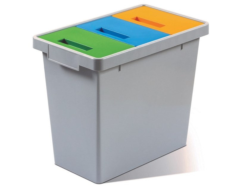 Waste bin for waste sorting POLYMAX by MATTIUSSI ECOLOGIA