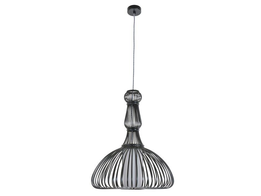 Bamboo pendant lamp POMPADOUR by Forestier