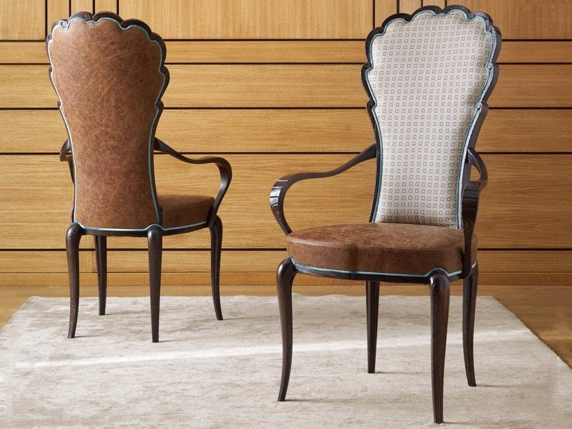 Upholstered chair with armrests POMPEIVM | Chair by Arvestyle