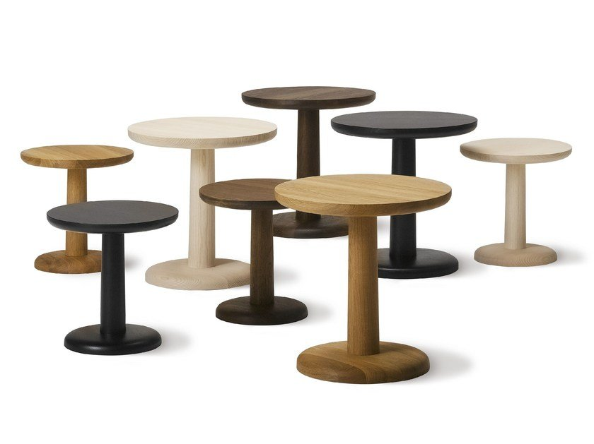 Round wooden coffee table PON by FREDERICIA FURNITURE