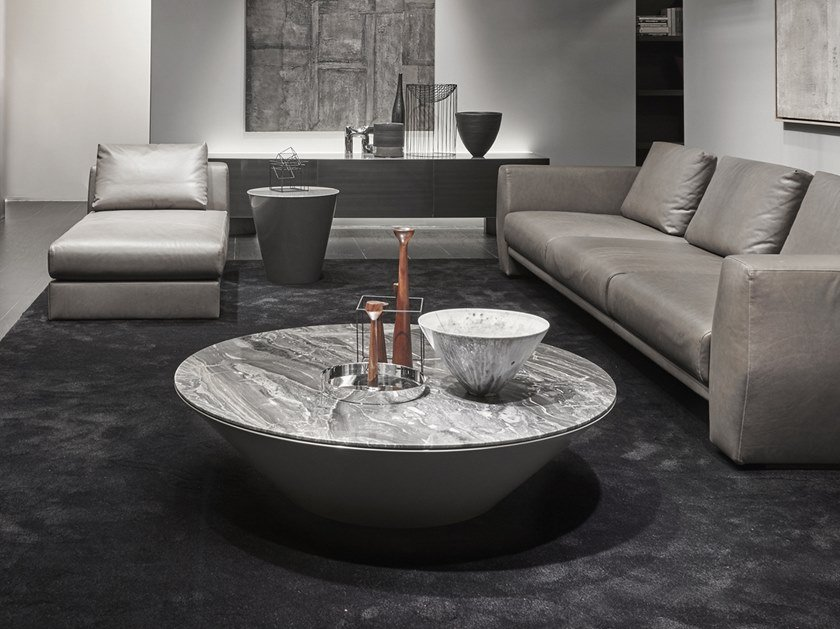 Round stone coffee table POND | Stone coffee table by ACERBIS