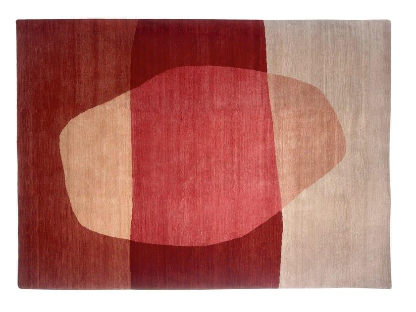 Handmade rectangular rug POOL OF LIGHT by Deirdre Dyson