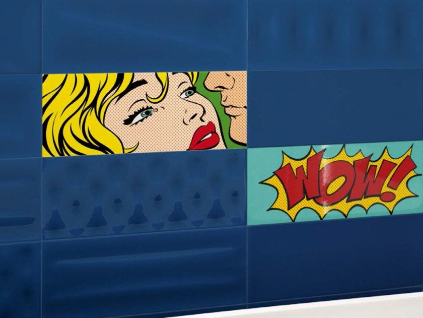 Double-fired ceramic wall tiles POP CARTOON by Ceramica d'Imola