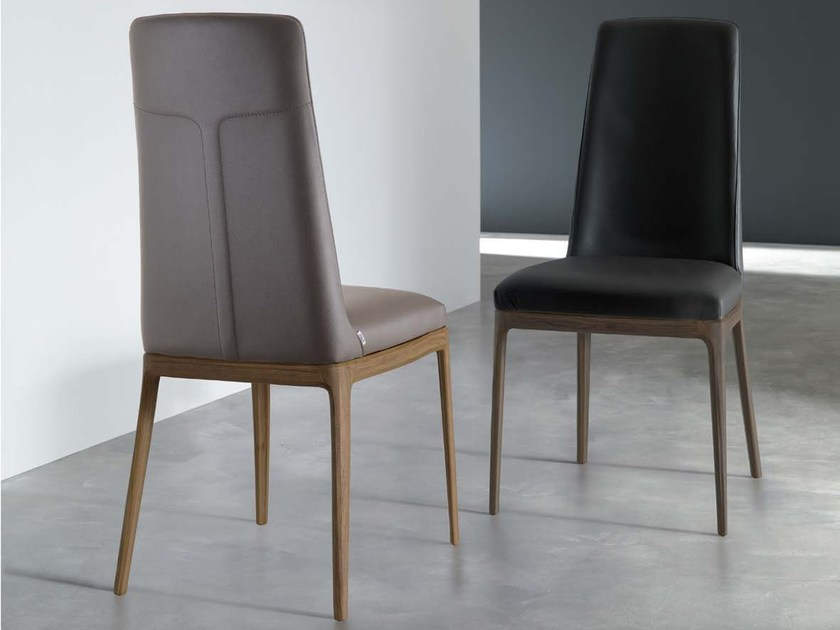 Upholstered leather chair POP by Ozzio Italia