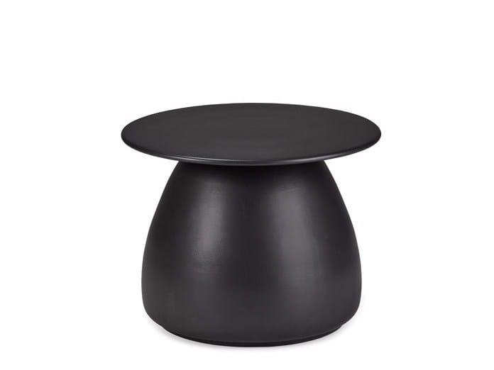Round Ceramic Garden Side Table PORCINI | Ceramic Coffee Table By DEDON