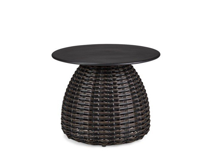 Round garden side table PORCINI | Coffee table by Dedon