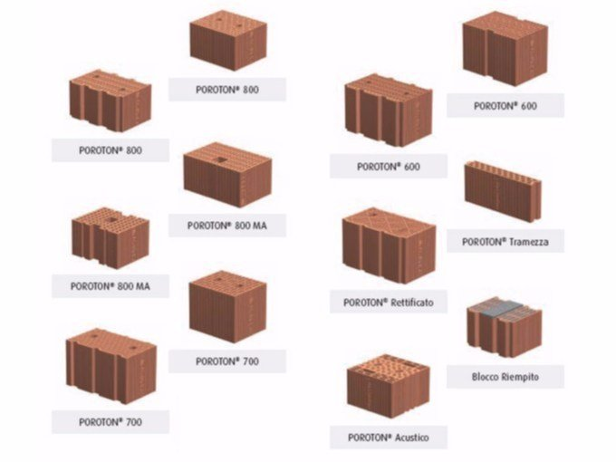 Clay building block POROTON® 800-700-600 by Poroton