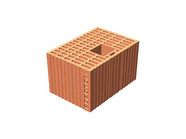 Loadbearing clay block for reinforced masonry POROTON® 30X21X19 by T2D