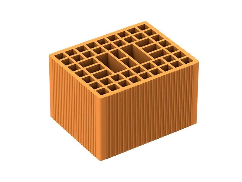 Thermal insulating clay block POROTON P600 by Fornaci Laterizi Danesi