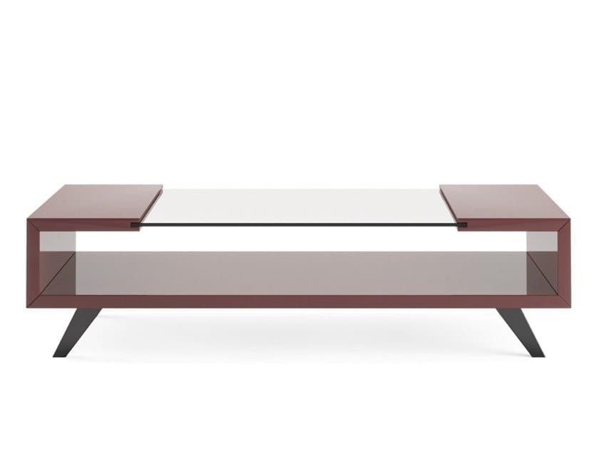 Tavolino Portariviste Legno.Tavolino Basso In Legno In Stile Moderno Con Portariviste Da