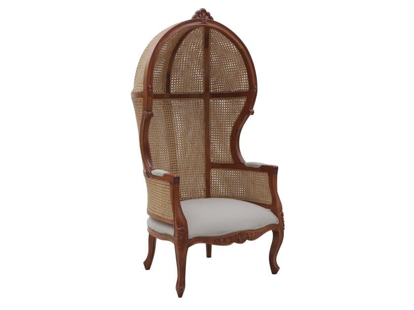 High-back garden armchair PORTER | High-back garden armchair by Il Giardino di Legno