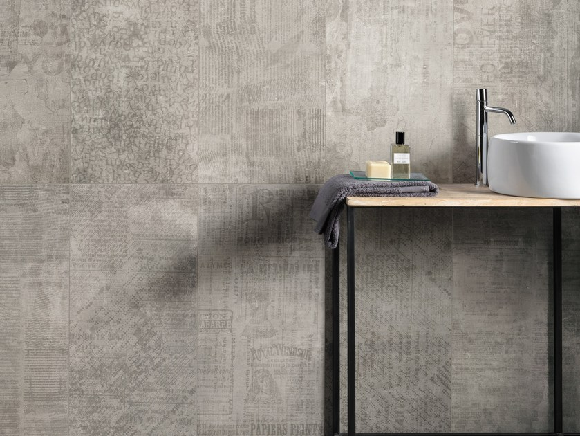 Porcelain stoneware wall/floor tiles with concrete effect PORTLAND 2.0 HOOD MAGAZINE by CERAMICA FONDOVALLE